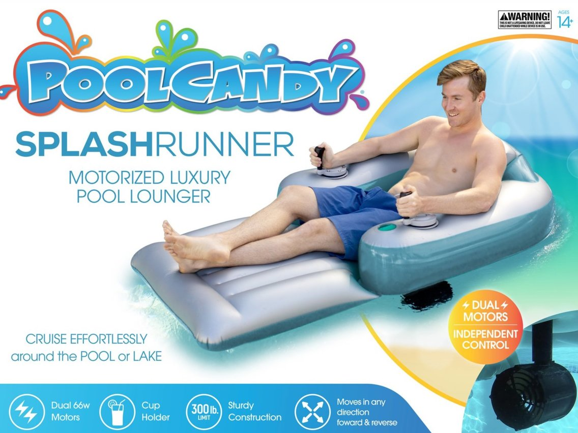 The pool float offers 360-degree movement. Credit: Pool Candy
