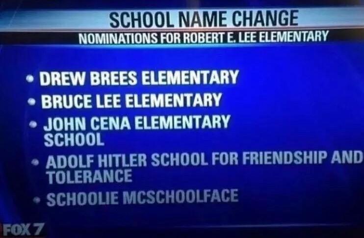 Excellent names for schools.