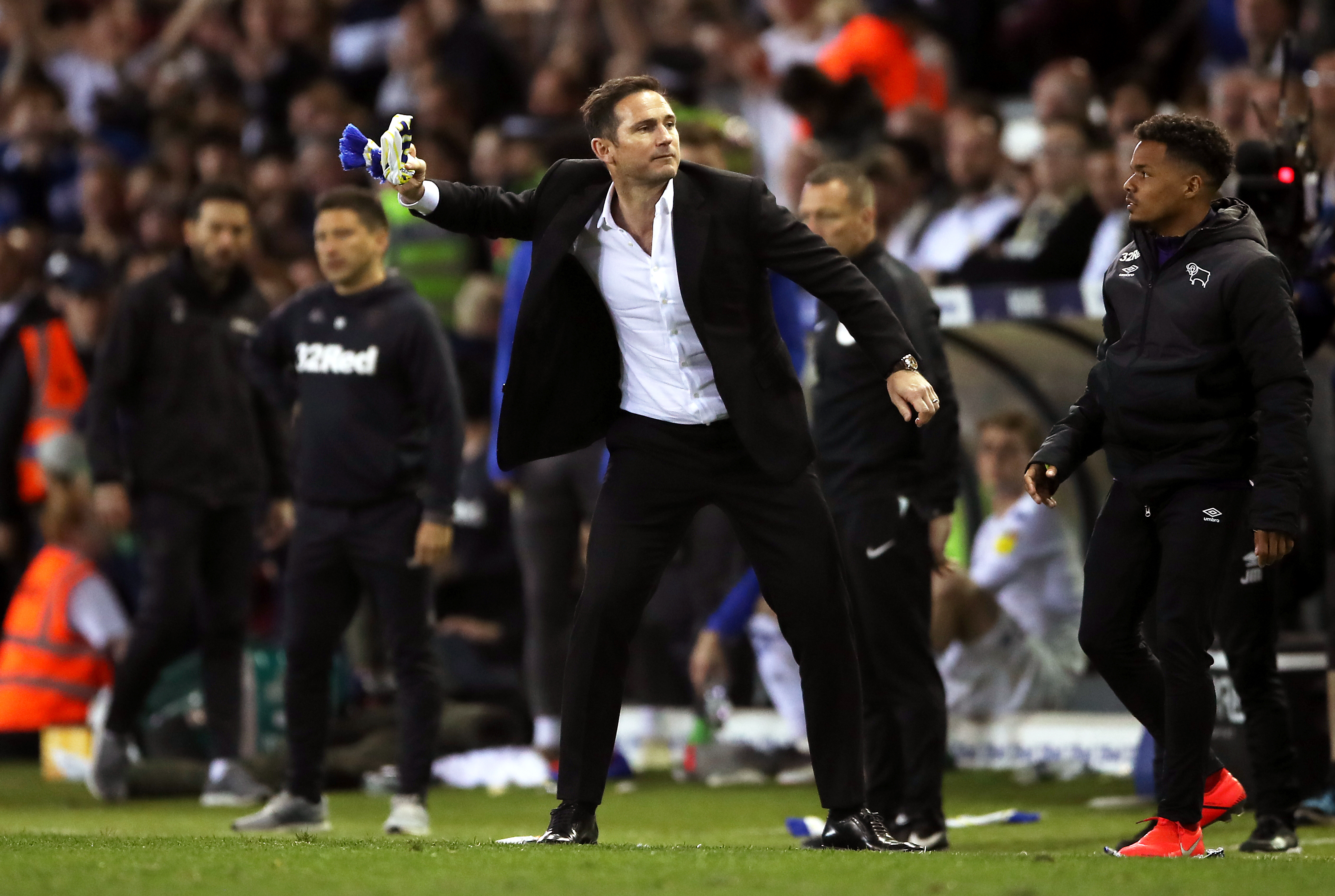 Lampard will manage Derby in the Championship play-off final on Monday but could be Chelsea boss. Image: PA Images