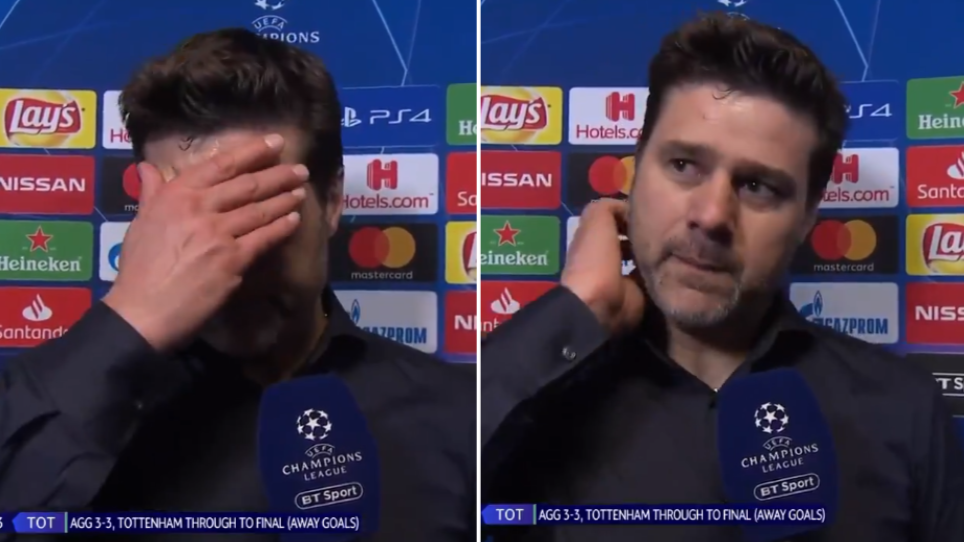 Mauricio Pochettino Breaks Down In Tears During Emotional Post Match Interview Sportbible