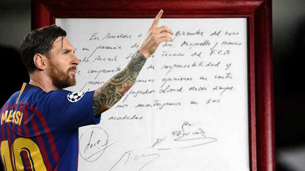 Image result for messi signing paper