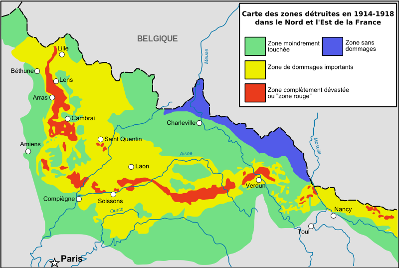 The red areas represent the no-go areas. Credit: Wikimedia Commons