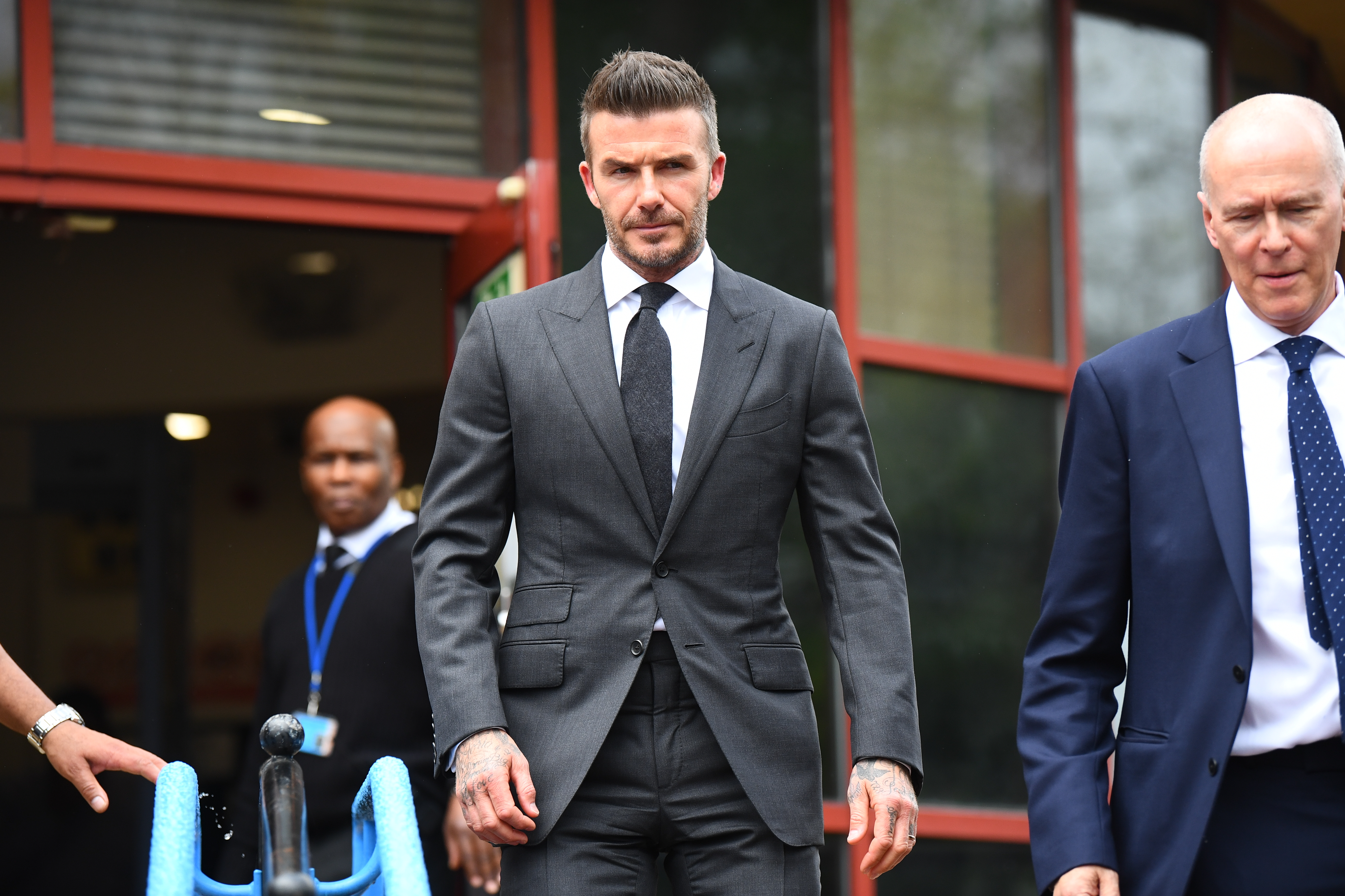 Beckham was given six points on his licence and banned from driving for six months. Credit: PA