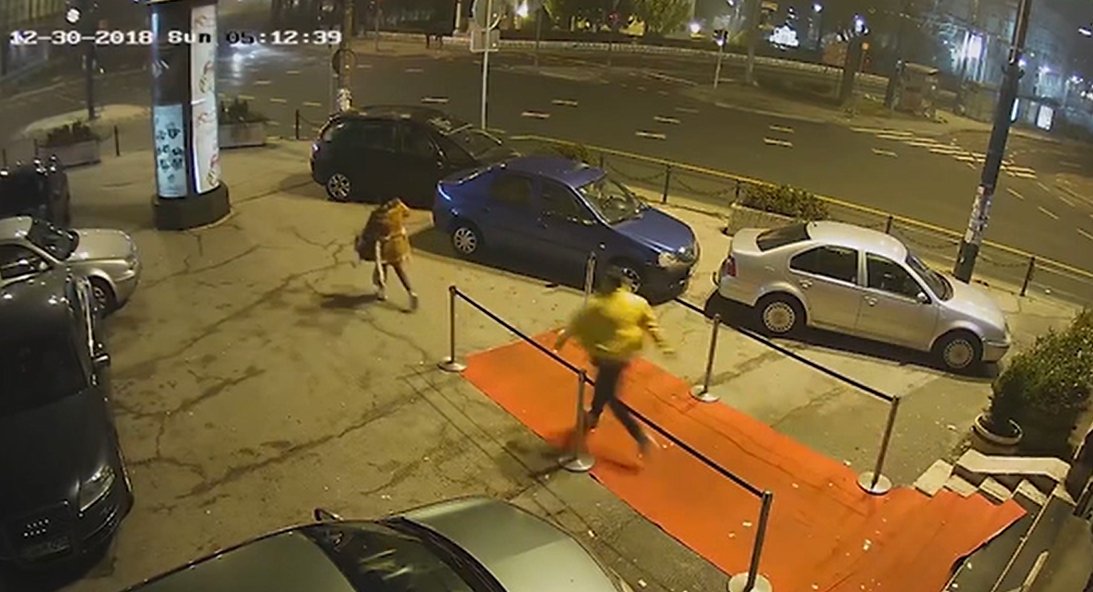 The woman was leaving the Dorain Gray nightclub when she was ambushed. Credit: CCTV/Twitter