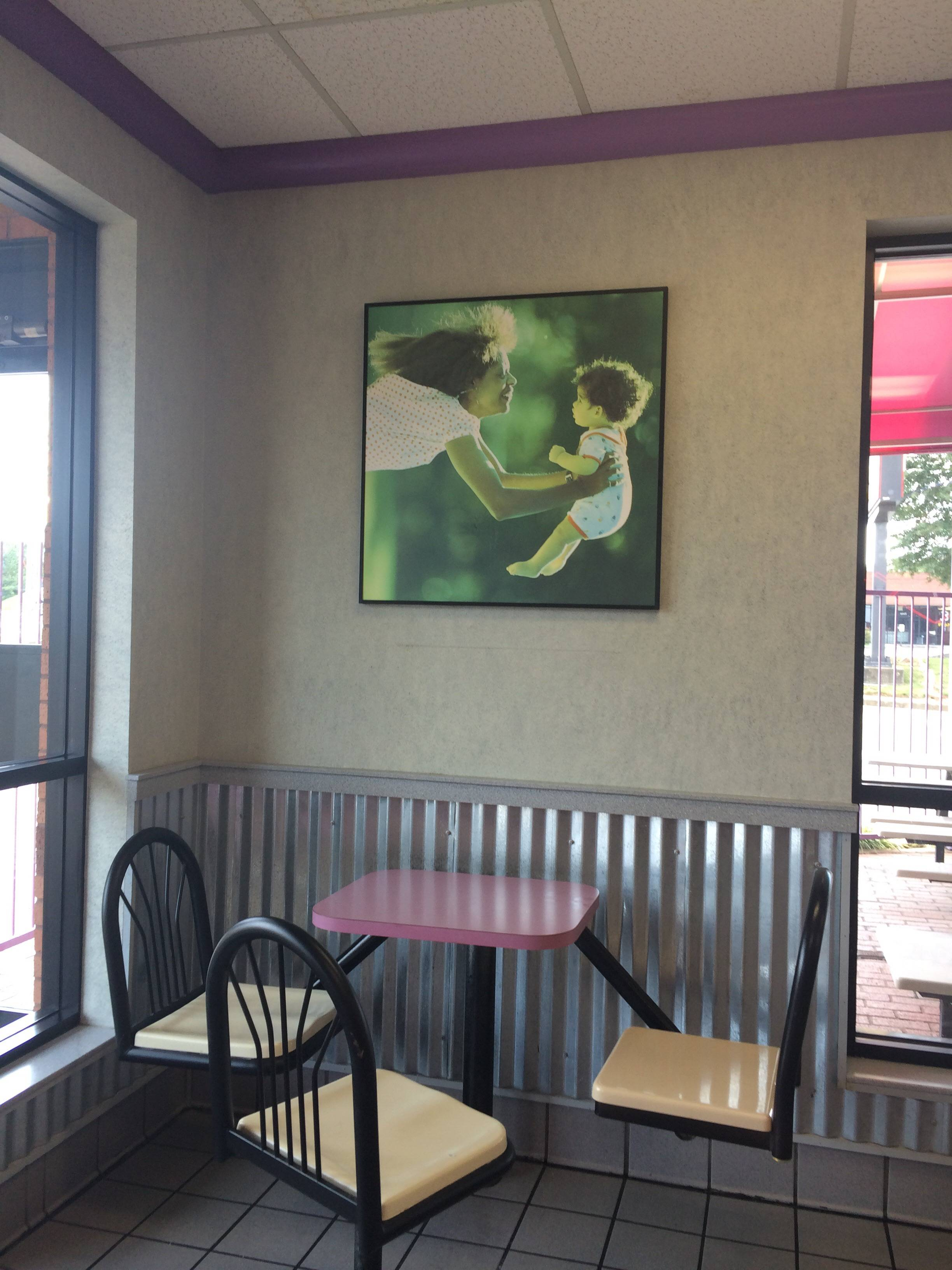 Think the Taco Bell decorators got this pic the wrong way up...