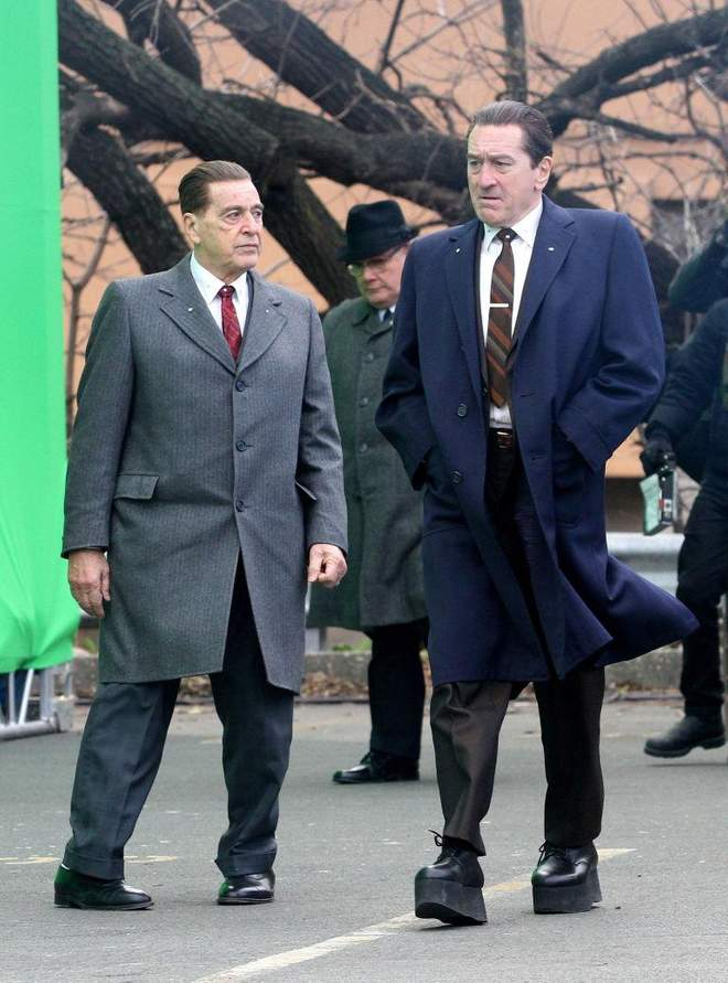 Robert De Niro and Al Pacino in The Irishman. Credit: Backgrid