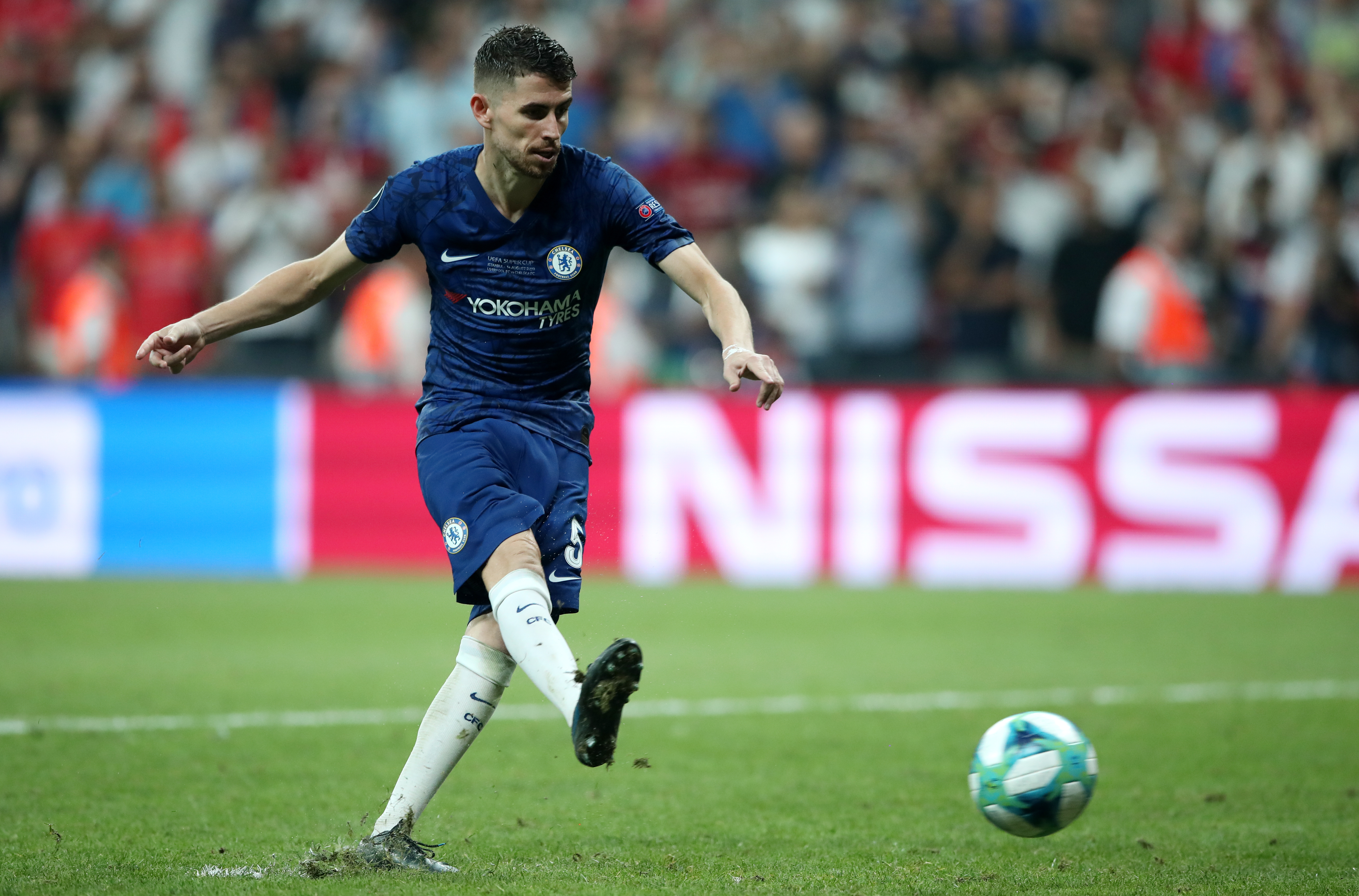 Jorginho scored from the penalty spot to send the game to a shootout