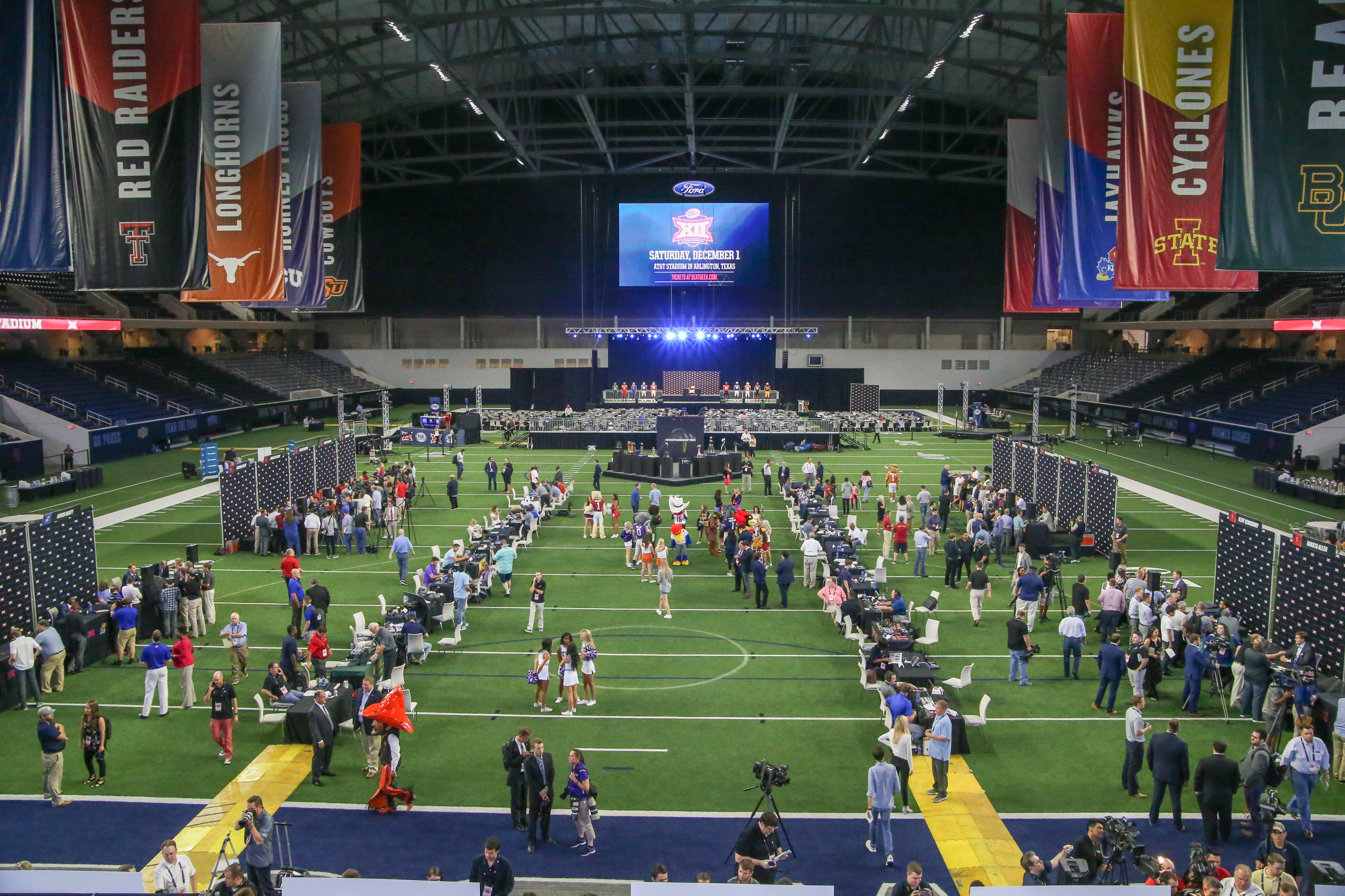 The Star in Frisco, Texas cost $1.5bn to build and has a 12,000-seat stadium inside