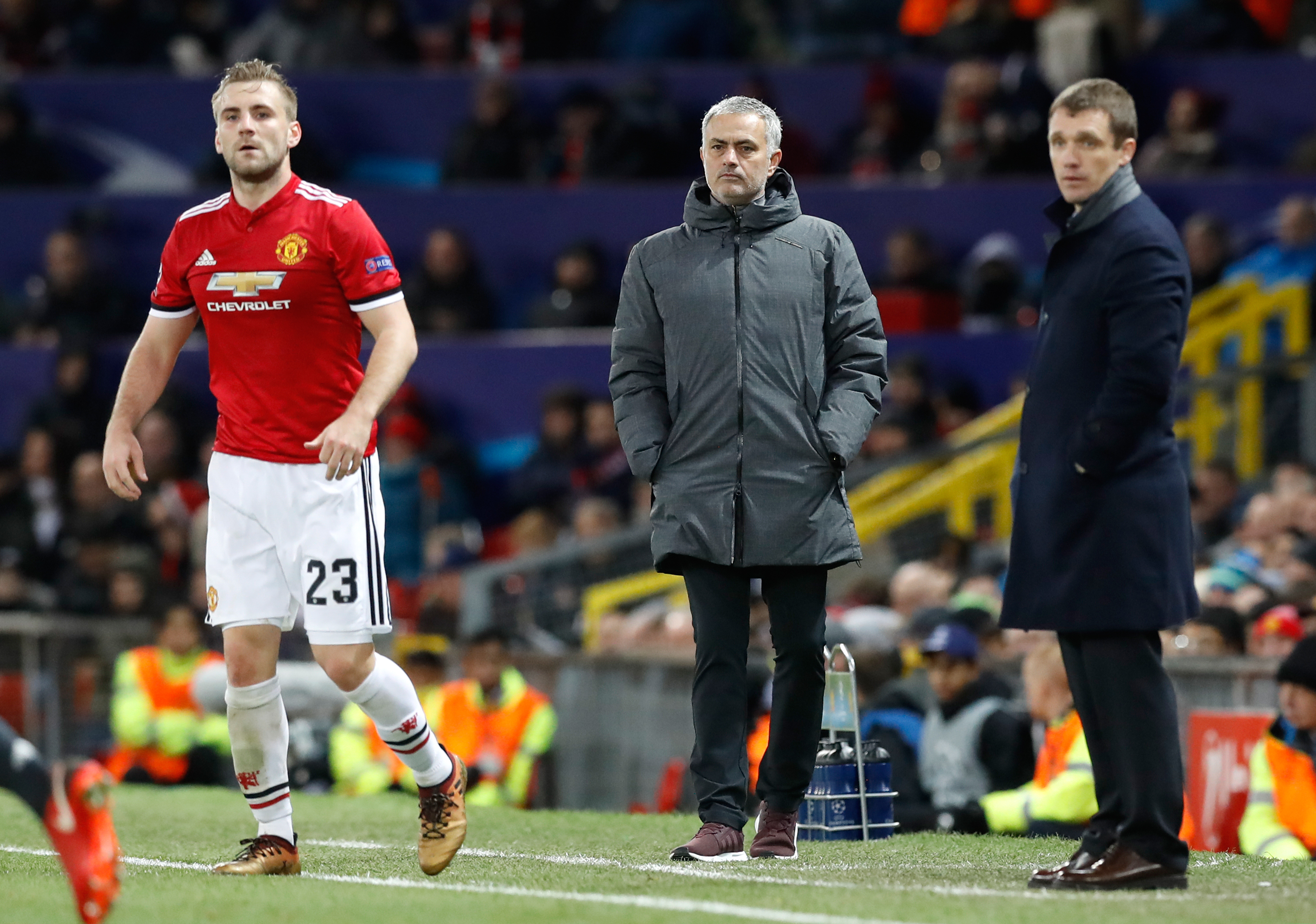 Mourinho and Shaw's relationship has been fraught. Image: PA Images