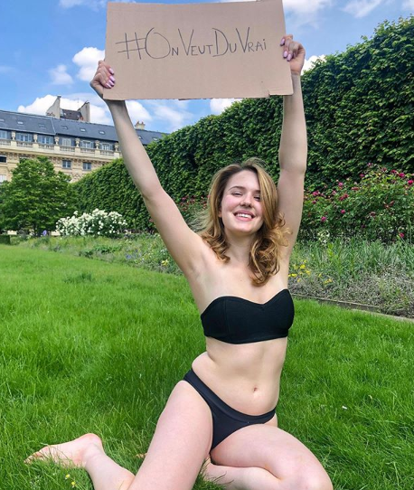 The French influencer is known for encouraging women to be more confident. Credit: Instagram