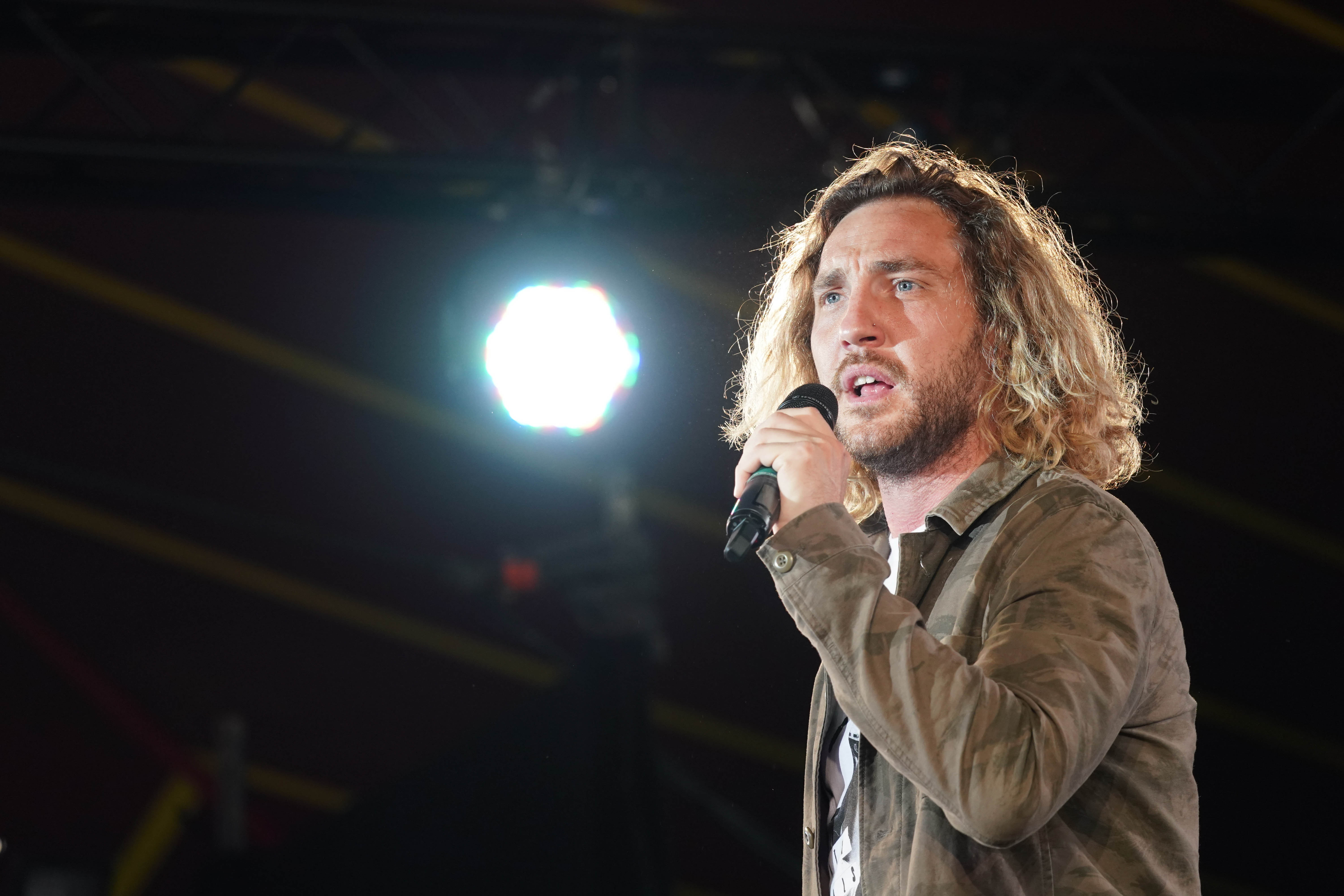 Seann Walsh performing live on the Alternative Stage at the 2017 Reading Festival. Credit: PA Images