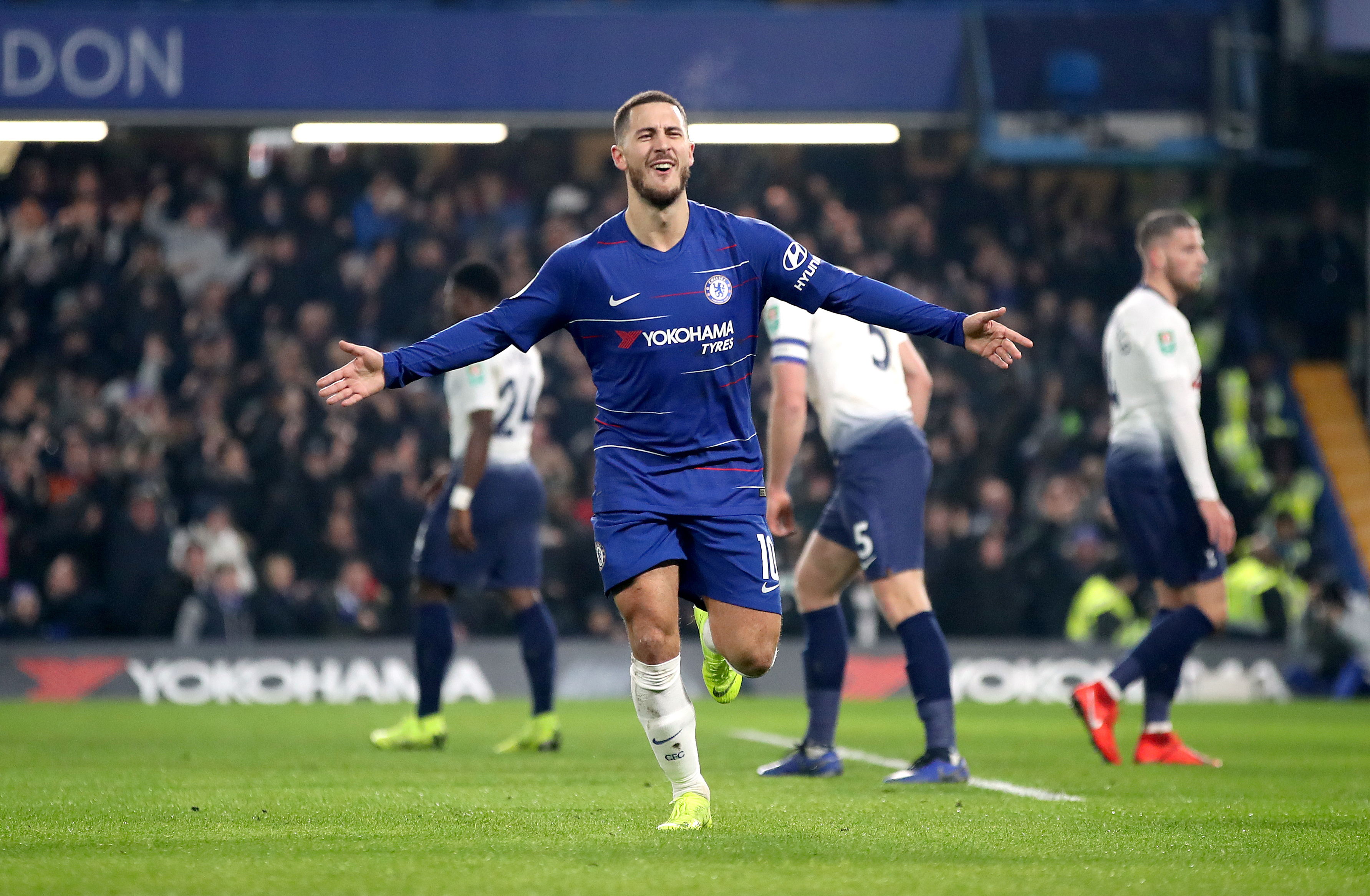Hazard looks certain to leave Stamford Bridge in the summer. Image: PA Images