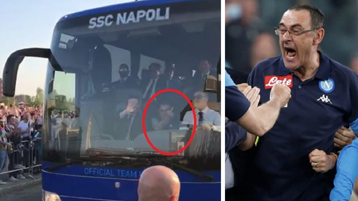Image result for Maurizio Sarri Gave Juventus Fans The Middle Finger