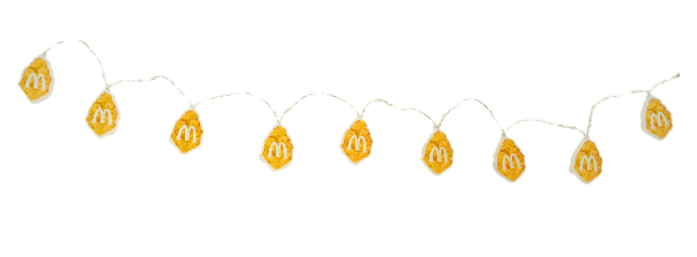 Why not cover your tree in McNugget fairy lights too? (Credit: McDonald's)