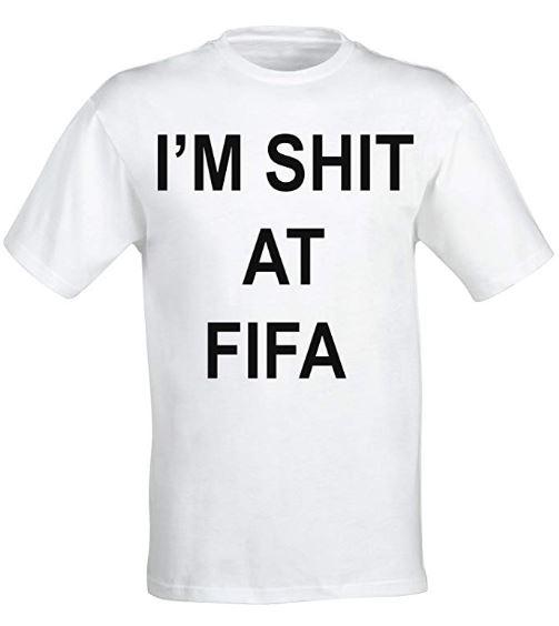 'I'm Shit At FIFA' t shirt. Credit: Amazon