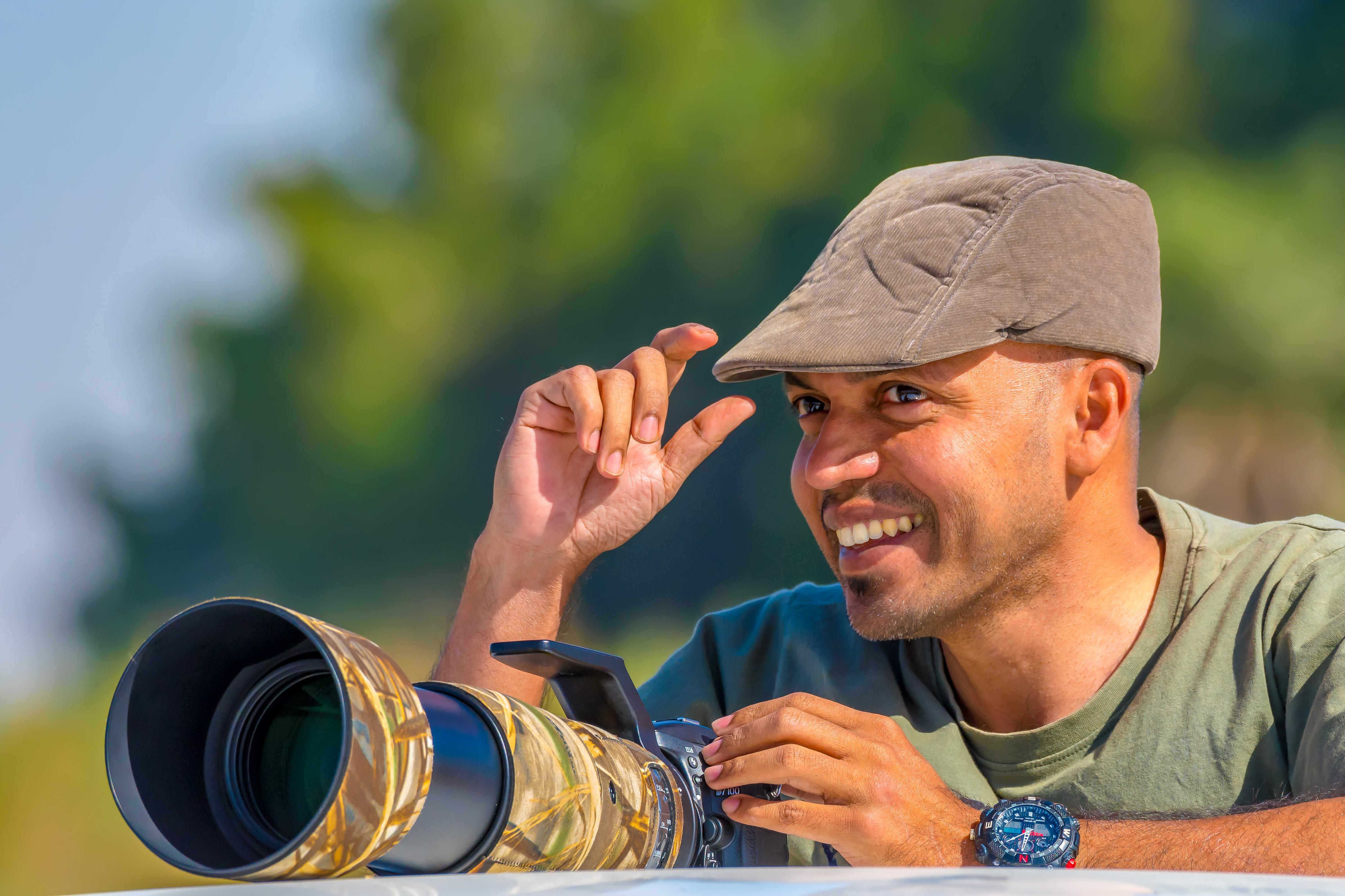 Photographer Kaushik Vijayan. Credit: SWNS