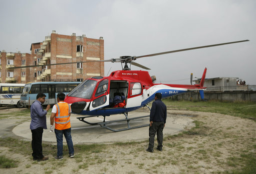 Helicopters were at the scene. Credit: PA
