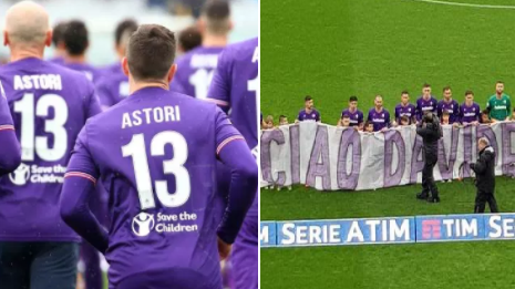 Emotional Scenes As Fiorentina Play First Game Since Tragic Passing Of Davide Astori