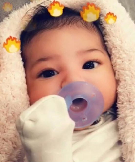 Kylie Jenner & Travis Scott Share First Photo of Baby Stormi's Adorable Face