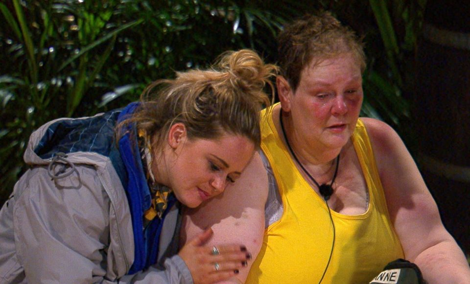 The pair grew close while appearing on I'm A Celebrity... Get Me Out Of Here! together. Credit: ITV