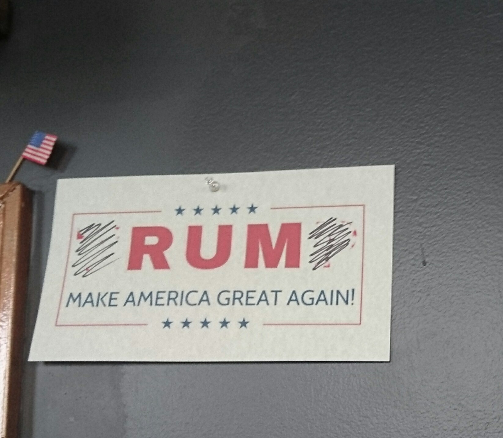 Found this gem at a local rum distillery.