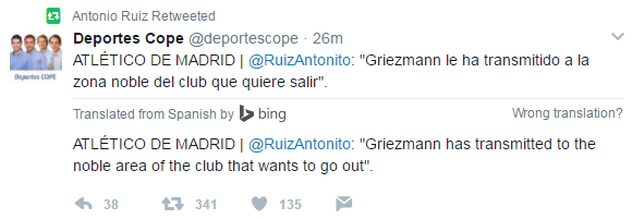 BREAKING: Antoine Griezmann Informs Atletico Madrid That He Wishes
