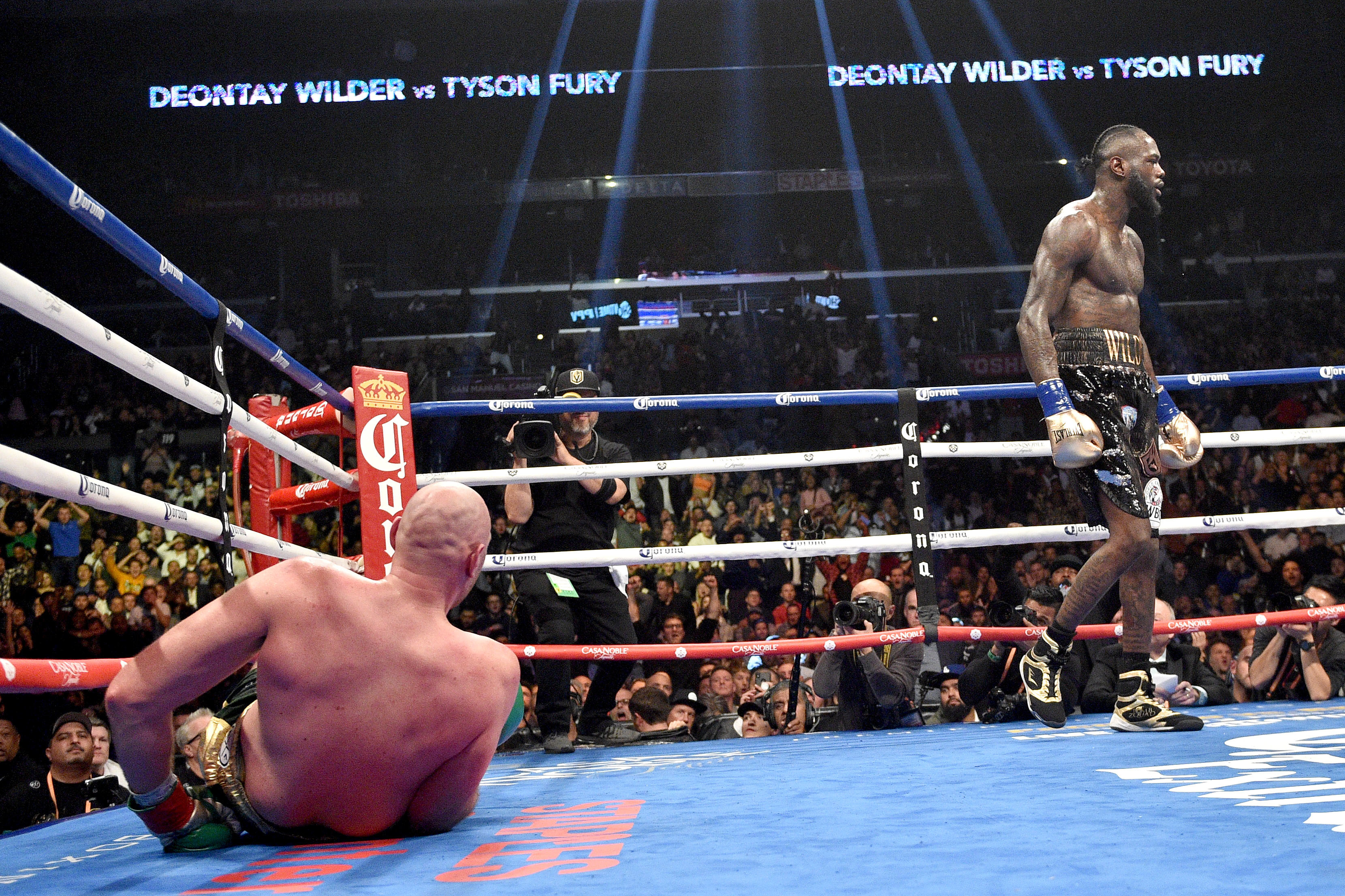 Fury somehow got off the mat in the 12th round. Image: PA Images