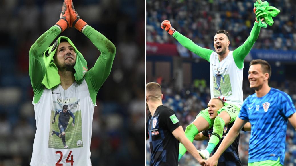 94af43d5412 Danijel Subasic Refuses To Take Off T-Shirt Honouring Fallen Friend After  FIFA Warning