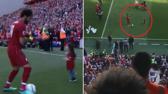 Watch: Mohamed Salah's Adorable Daughter Steal The Show As He Receives Golden Boot Award