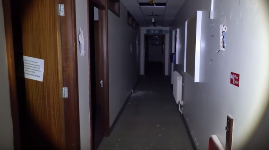 Urban explorer Warren Tepper visited the North Staffordshire Royal Infirmary, which closed in 2012. Credit: Caters