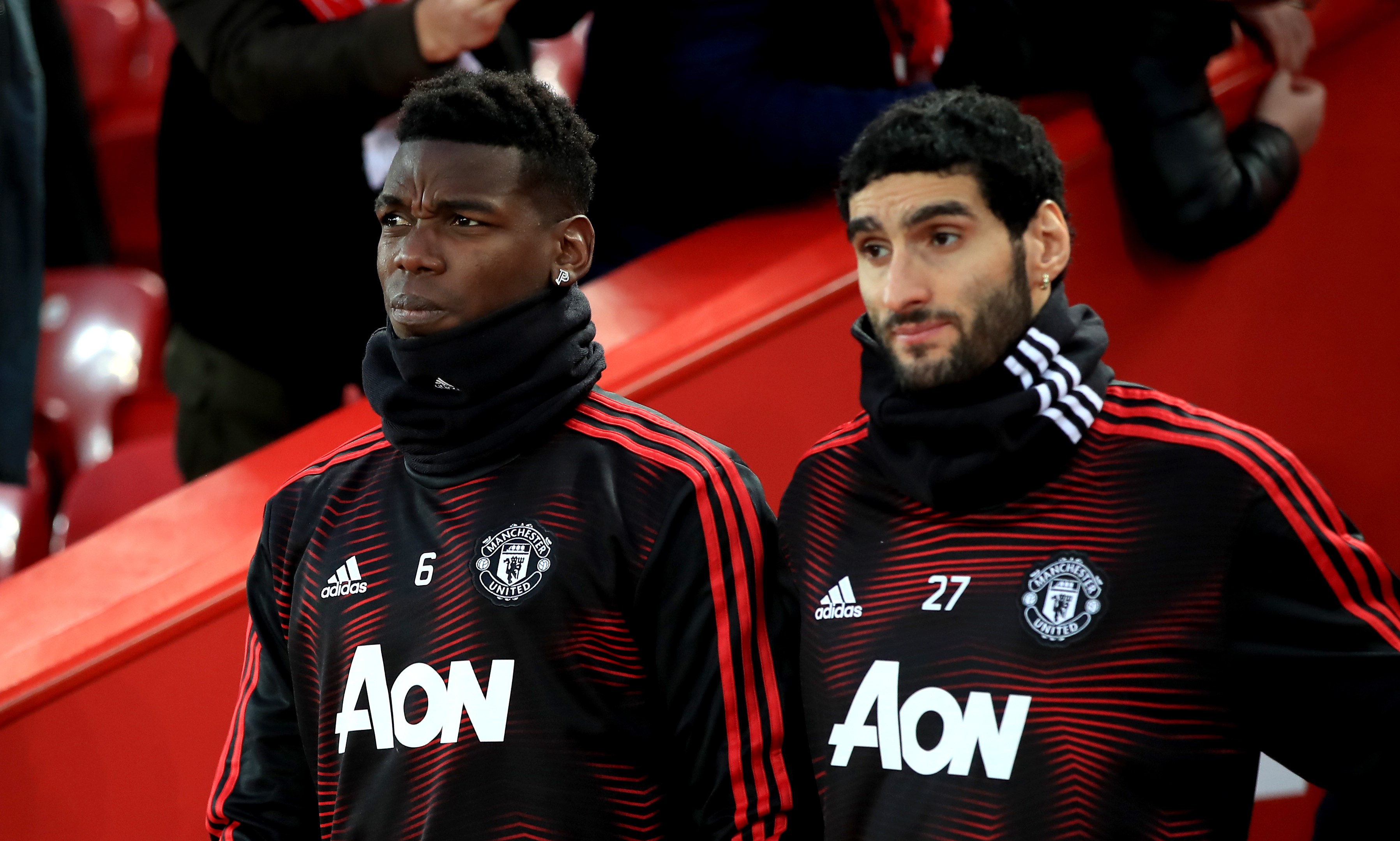 The low point for Pogba was being left on the bench against Liverpool. His form improved but was gone by the end of the season. Image: PA Images