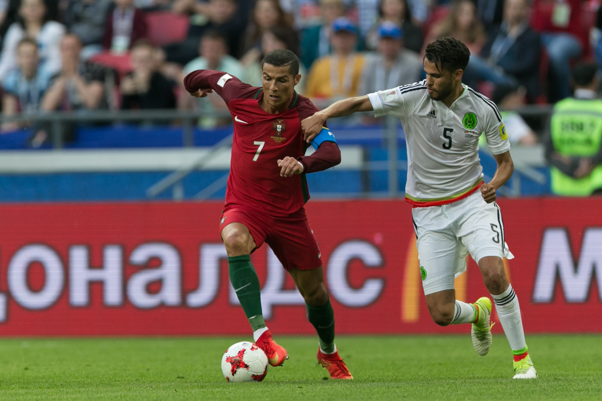 a99bad03b Ronaldo in action for Portugal against Mexico in their opening game of the  Confederation Cup. Image  PA