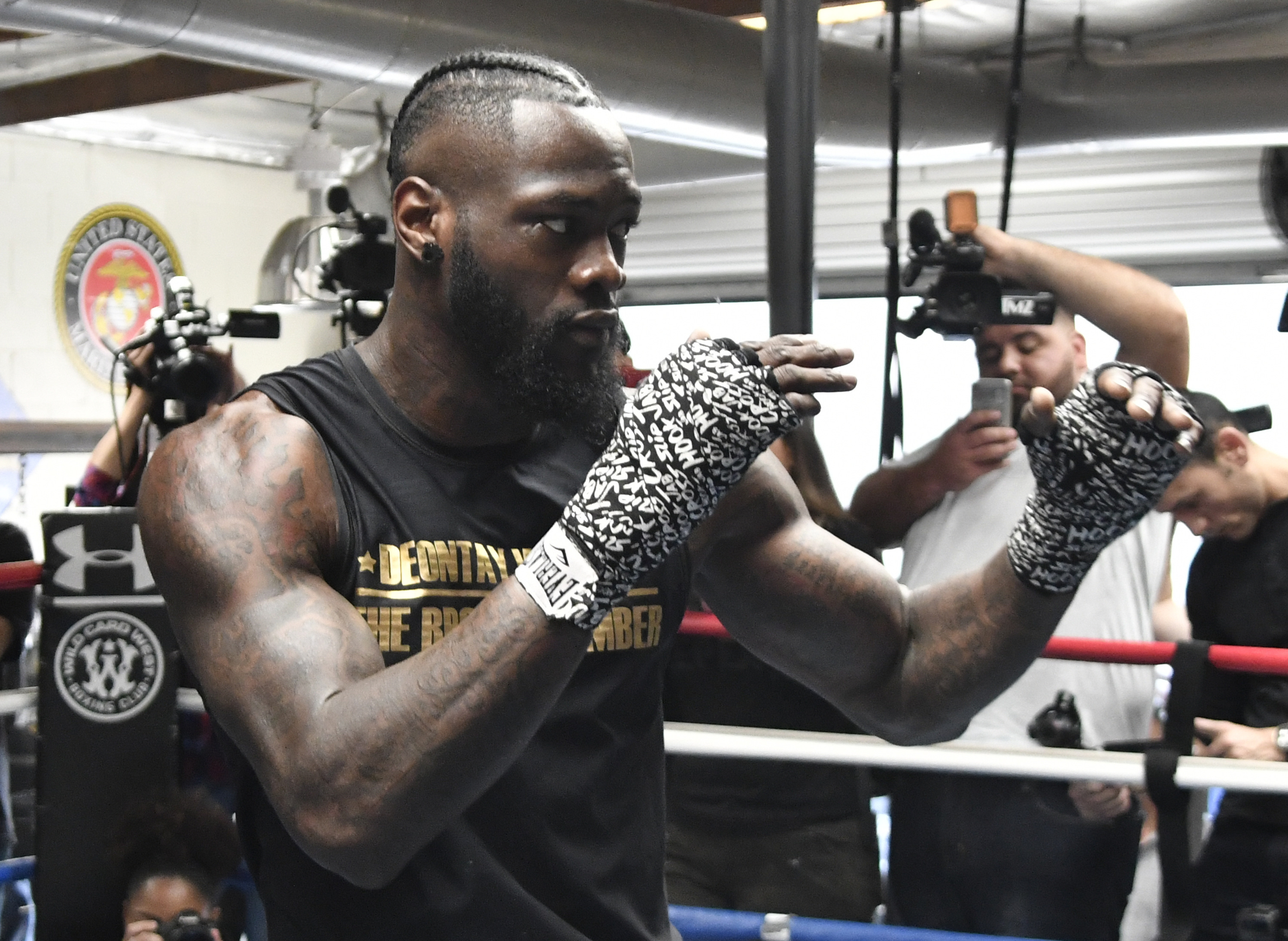 Fury's opponent Deontay Wilder is unbeaten in 40 fights. Credit: PA
