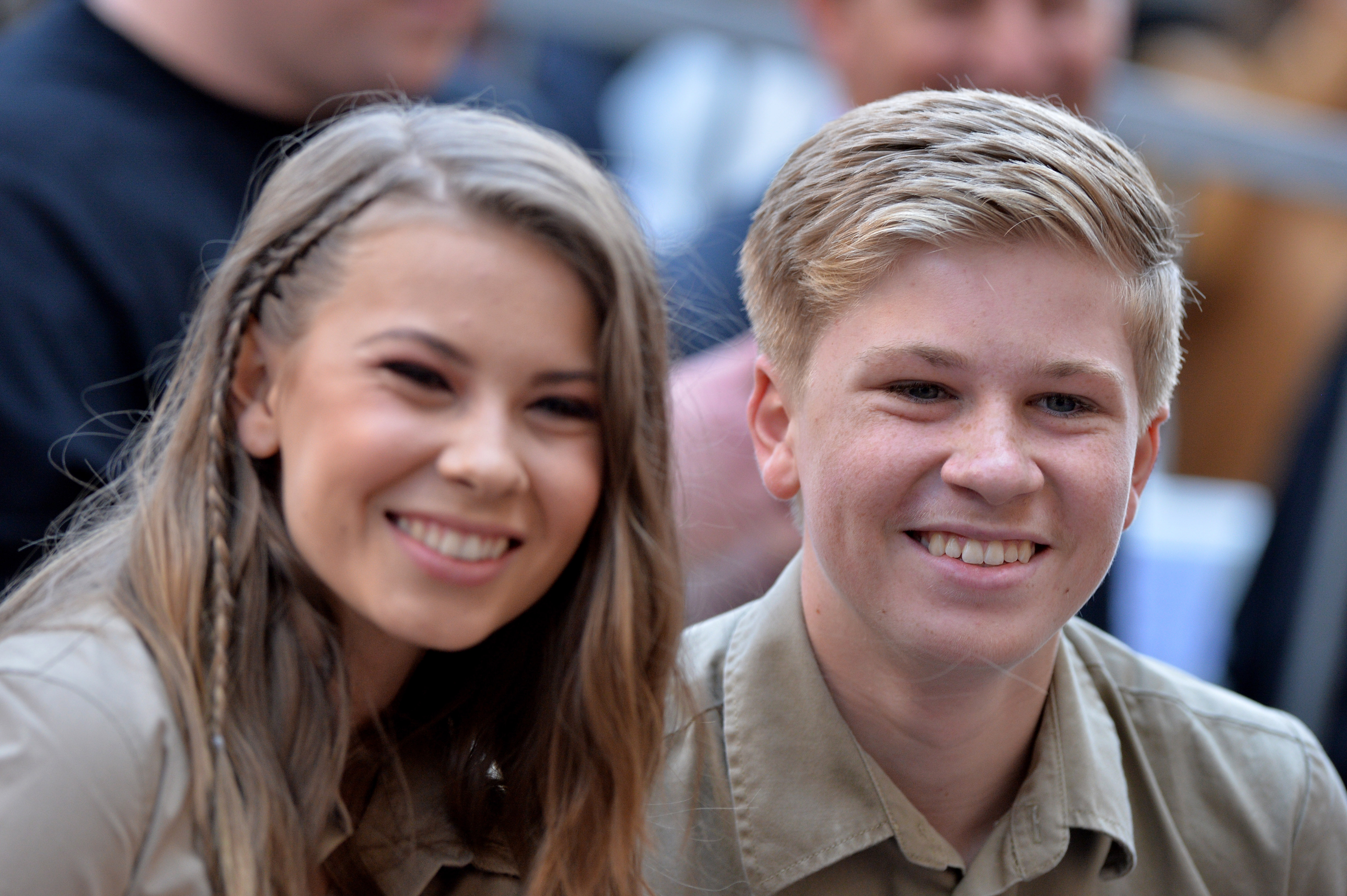 Steve's children, Bindi and Robert Irwin. Credit: PA