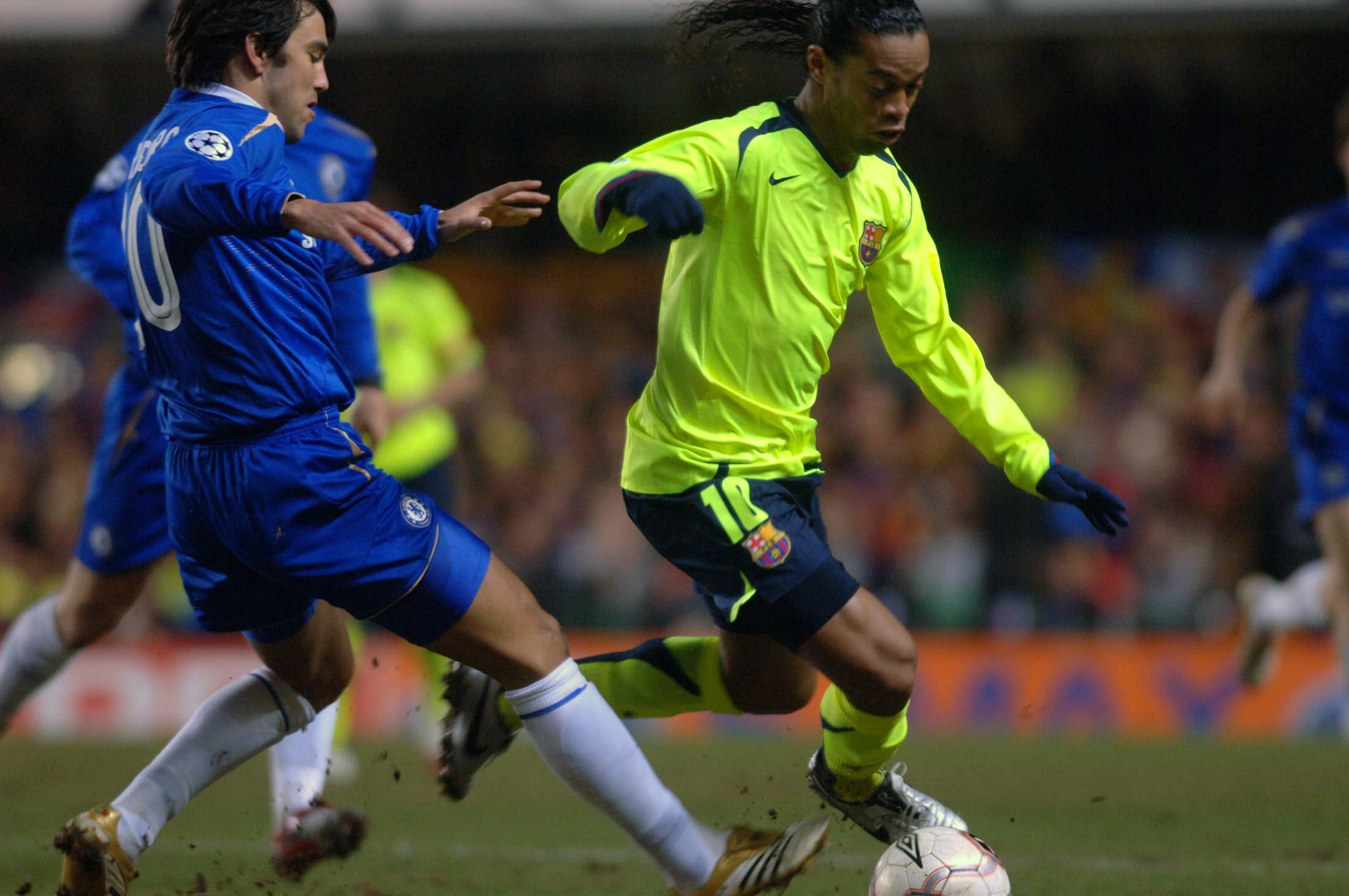 Ronaldinho played against Chelsea in the Champions League a couple of times. Image: PA Images