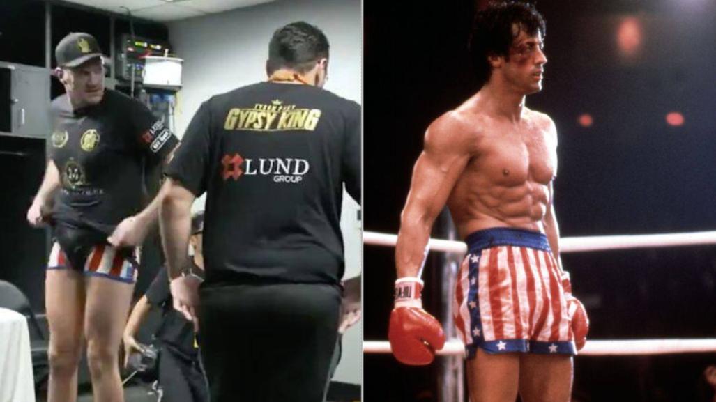 Tyson Fury Was Wearing 'Rocky Underpants' Against Wilder, Worn By Balboa In Rocky IV
