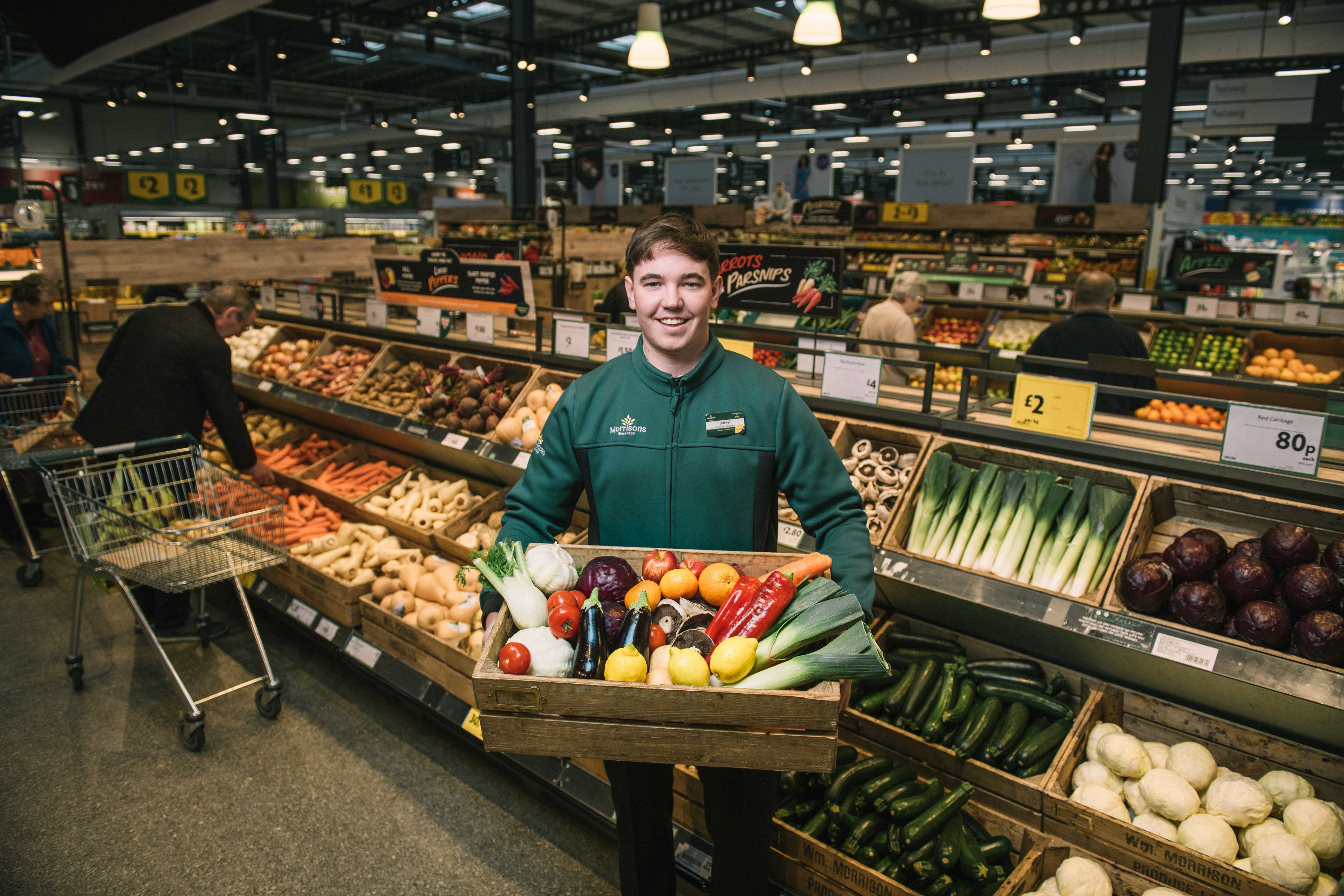 Customers will be able to choose from 127 varieties of fruit and veg - all plastic-free. Credit: Morrisons