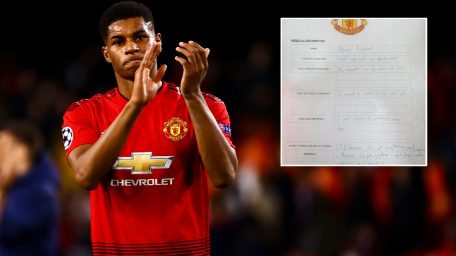 Marcus Rashford's Under 11's Report Card Makes For Brilliant Reading