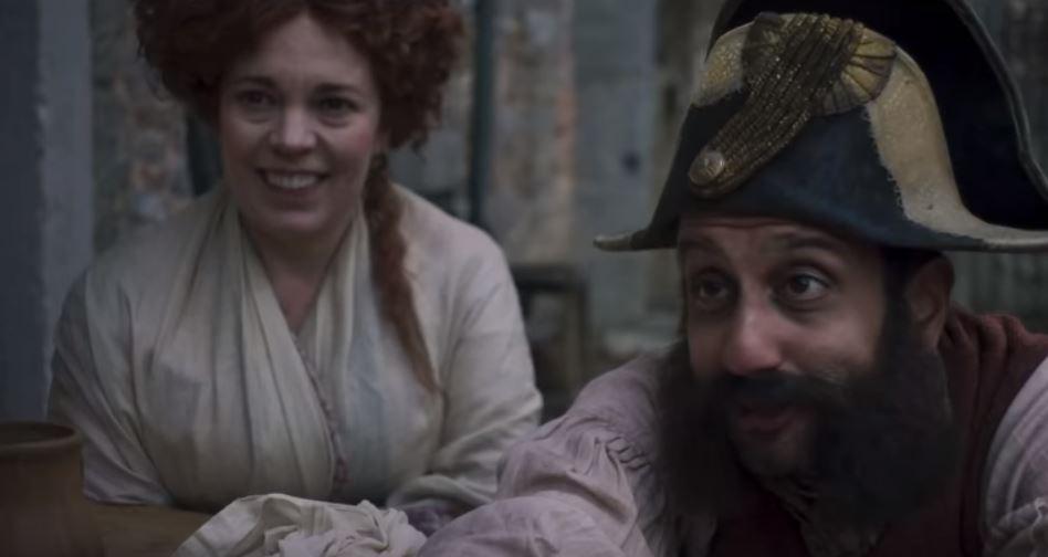 Olivia Colman as Madame Thénardier. Credit: BBC One
