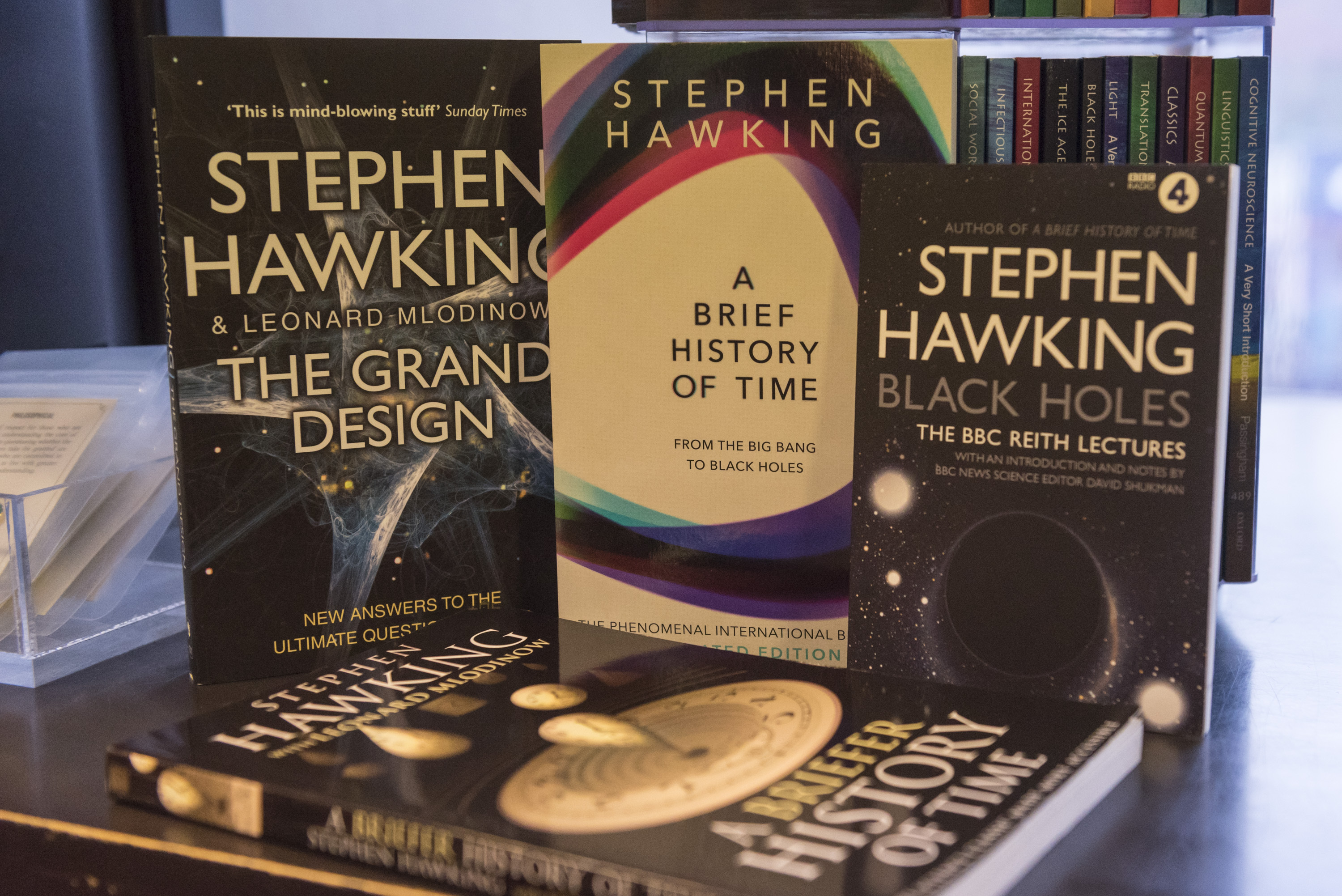 Hawking wrote many books during his long scientific career. Credit: PA