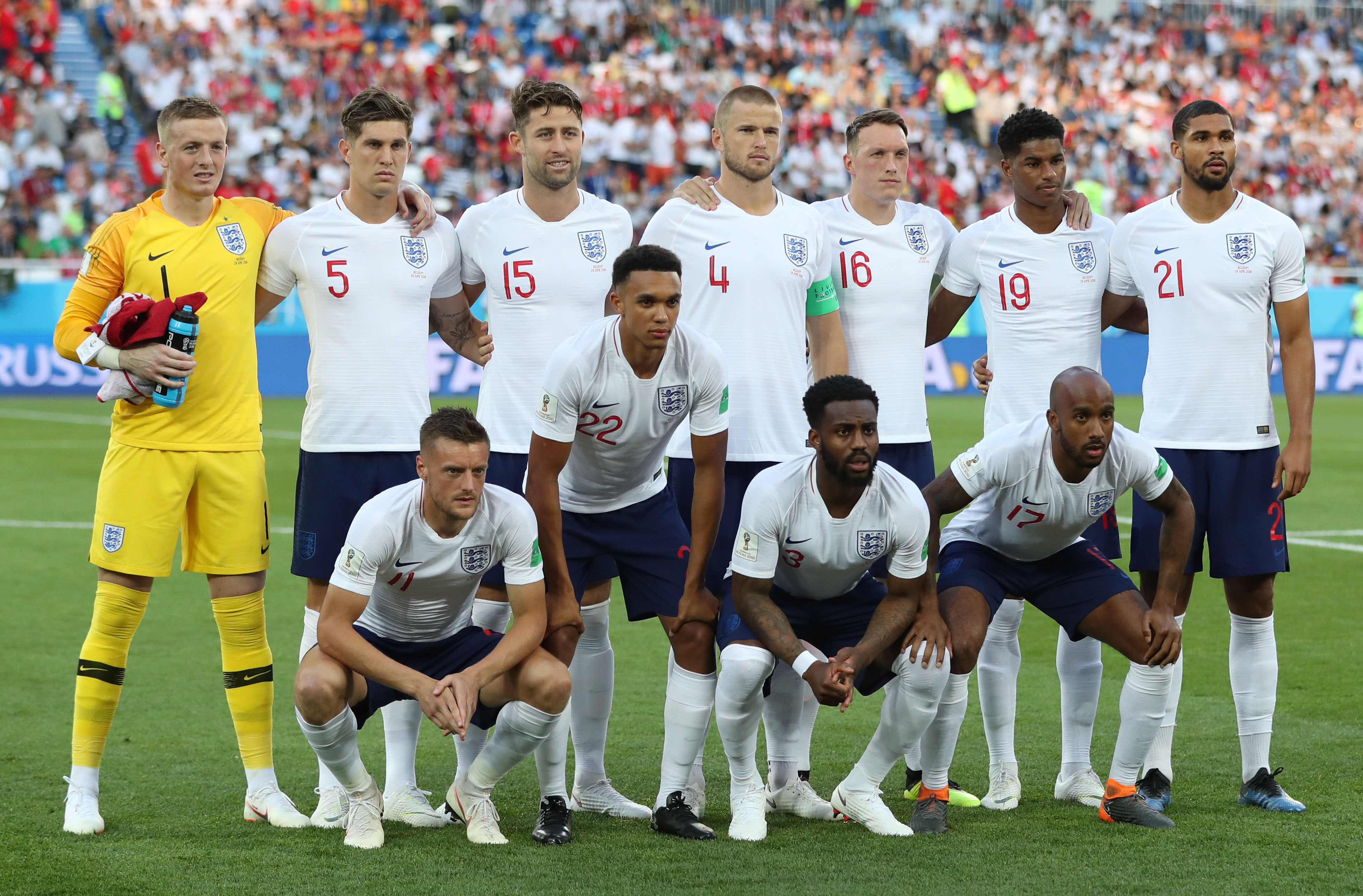 England line-up. Image: PA
