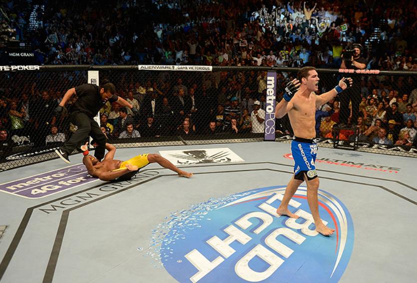 Silva's iconic leg injury happened in 2013. Credit: UFC