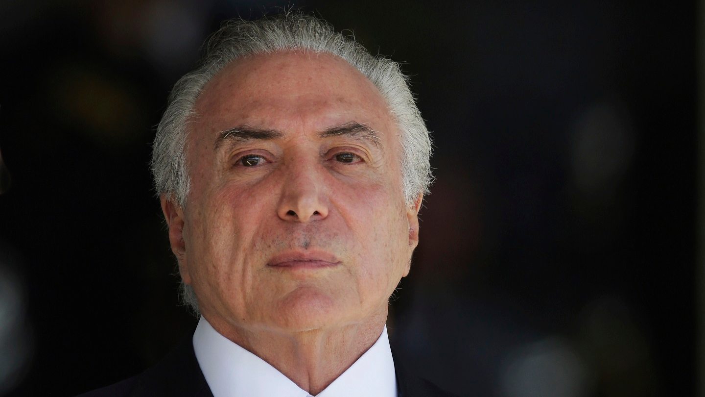 Brazilian President Michel Temer Faces Charges Of £9 Million Bribery