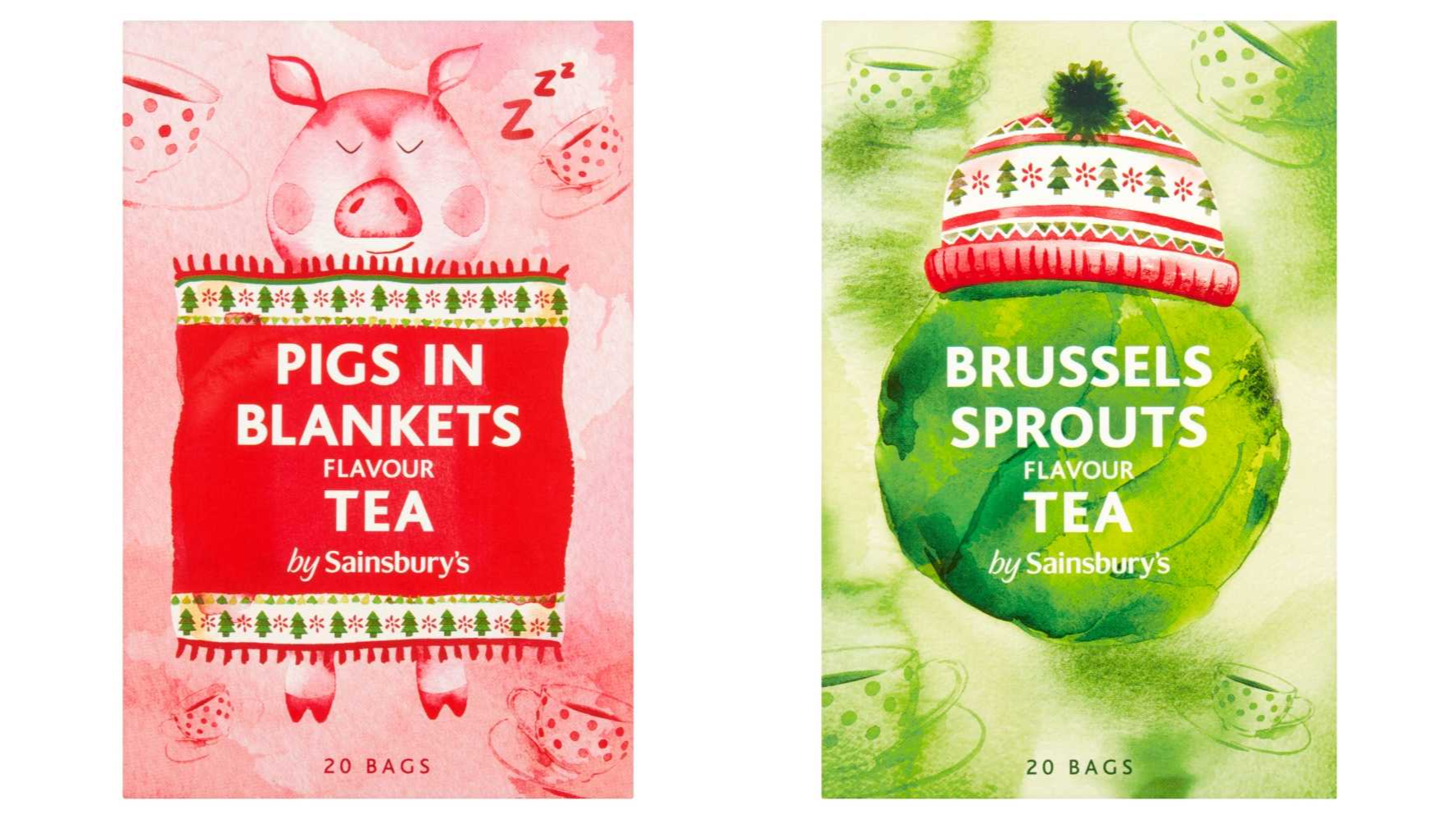 Sainsbury's Is Selling 'Sprouts' And 'Pigs In Blankets' Flavour Tea