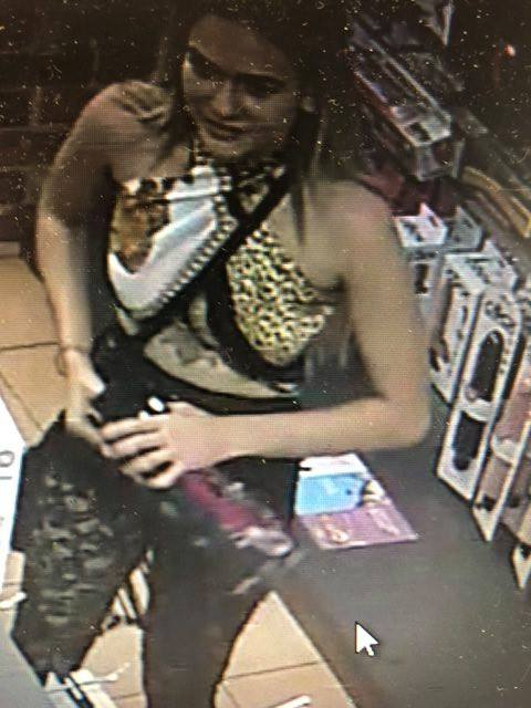 One of the women who is accused of stealing $600 worth of sex toys. Credit: Facebook/Libido Adult Super Store