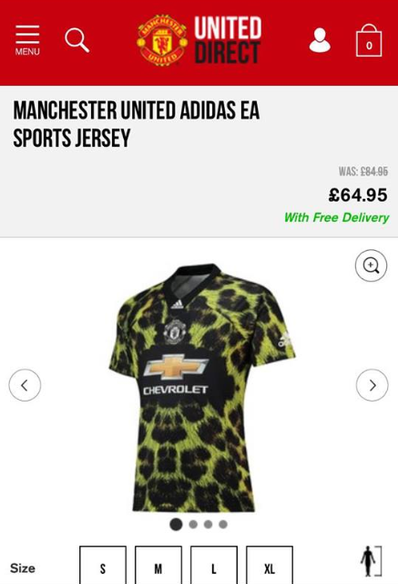 aed2a249ef9 Manchester United s  Leopard Print  Fourth Kit Is Now Officially On ...
