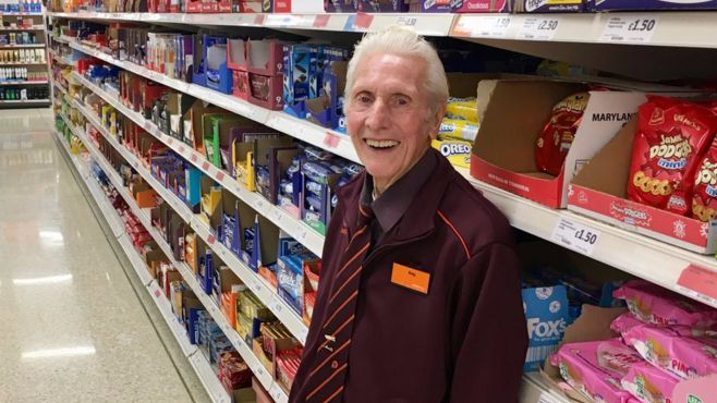 Britain's Oldest Shop Worker Reg Buttress Passes Away At The Age Of 94 After Sainsbury's Job