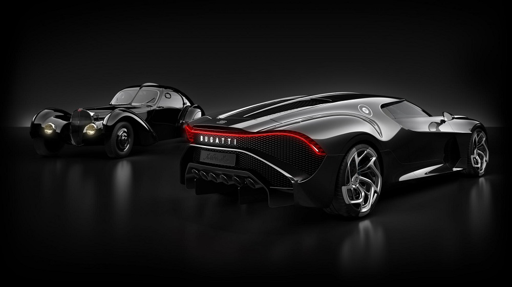 The car pays homage to the Type 57 SC Atlantic that was doing the rounds in the 1930s. Credit: Bugatti