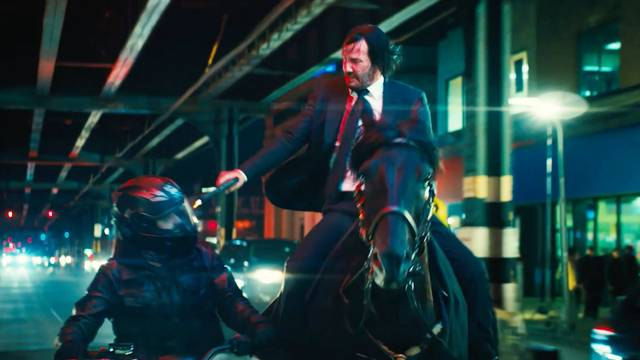 See, he really does ride a horse in John Wick: Chapter Three - Parabellum. Credit: Lionsgate