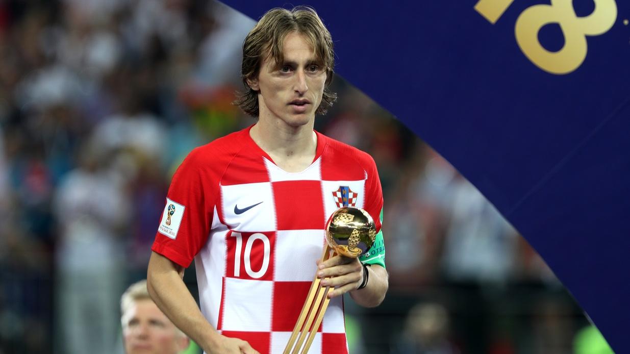 best service 453d8 d17e4 Luka Modric Wins World Cup Golden Ball Award And His Journey ...